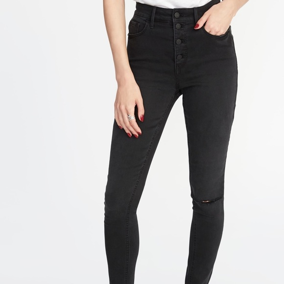 98e84ca5f280a OLD NAVY HIGH WAISTED ROCKSTAR ANKLE JEANS. M 5c3e83f53c9844f3ac24504b